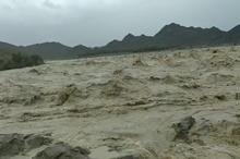بارش باران در شهر سیلزده بنت در استان سیستان و بلوچستان