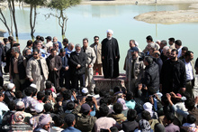 بازدید رئیس جمهور از مناطق سیلزده استان سیستان و بلوچستان
