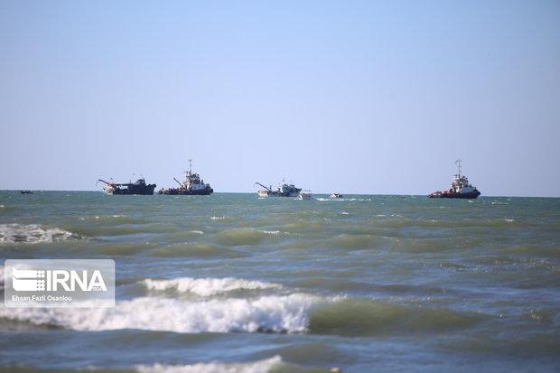 مانور مقابله با آلودگی نفتی در دریای خزر برگزار شد
