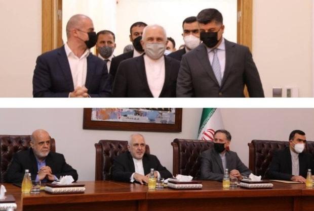 دیدار و گفت و گوی ظریف و رهبران اتحادیه میهنی کردستان عراق