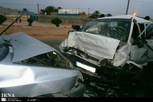 برخورد 2 سواری در مشهد اردهال کاشان یک کشته و هشت مصدوم داشت