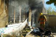 چهار باب مغازه در دهلران دچار آتشسوزی شد