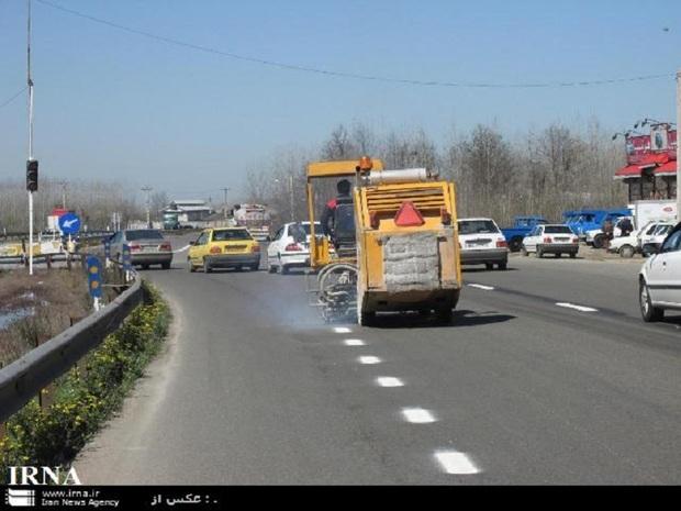 384 کیلومتر از جاده های بروجرد خط کشی شد