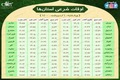 اوقات شرعی استان ها؛ چهارشنبه 1 اردیبهشت ۱۴۰۰
