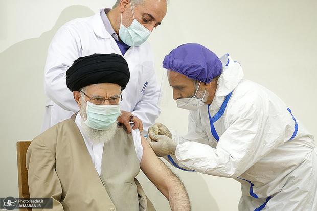 رهبر انقلاب واکسن ایرانی کرونا را دریافت کرد