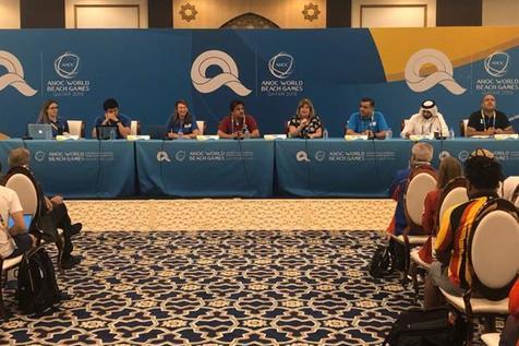 اولین نشست سرپرستان کاروانها در مسابقات بازیهای جهانی ساحلی برگزار شد