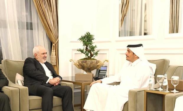 دیدار و گفت و گوی ظریف و وزیر خارجه قطر