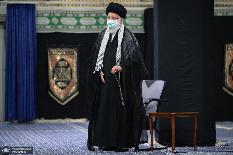 مراسم عزاداری شب تاسوعای حسینی (ع) در حسینیه امام خمینی