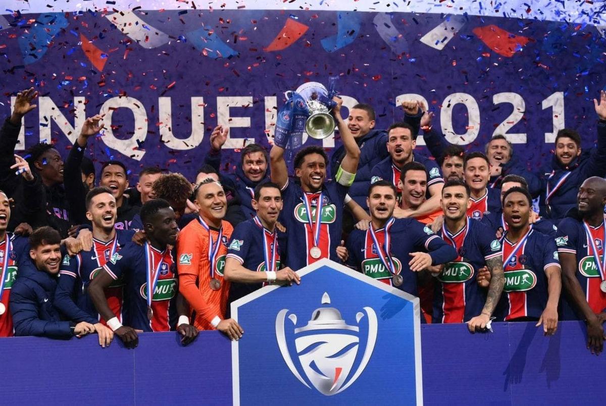 نتایج فوتبال اروپا  پاری سن ژرمن فاتح جام حذفی فرانسه شد +عکس و ویدیوی اهدای جام
