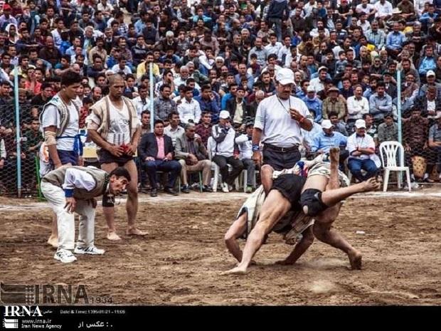 مسابقات کشوری کشتی با چوخه در خوشاب برگزار شد