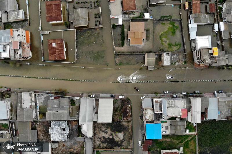 تصاویر هوایی از سیل آققلا