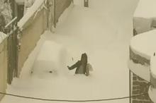 ارتفاع زیاد برف در کوچه های خلخال