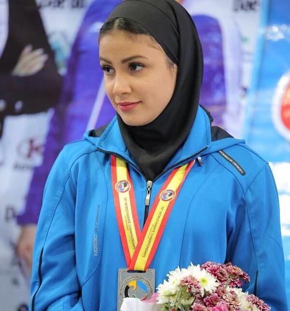 حضور سارا بهمنیار در لیگ جهانی کاراته