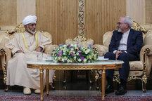 دیدار ظریف با پادشاه عمان