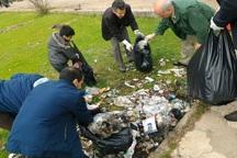 2 تن زباله از تالاب استیل آستارا جمع شد