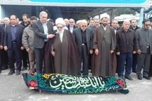 پیکر پدر شهیدان منکرسی در کرمانشاه خاکسپاری شد