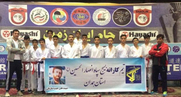 18 مدال رهاورد قطب کاراته کشور در جام بین المللی ایران زمین