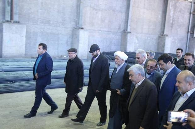 رئیس کل دادگستری قزوین از 2 واحد تولیدی بازدید کرد