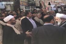عکس/ روحانی پیش از ورود به محل دیدار با آیت الله العظمی سیستانی