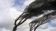 تداوم وزش باد شدید در همدان