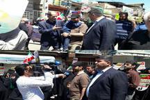 عکس| حضور وزیر ارتباطات با پوشش دهه شصتی در راهپیمایی روز قدس
