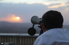 استهلال ماه شوال در رصدخانه امام علی(ع) روستای ویریج