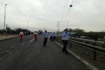 ۹ کشته و زخمی در افنجار خط گاز منطقه برومی اهواز  آتش سوزی چند خودروی عبوری