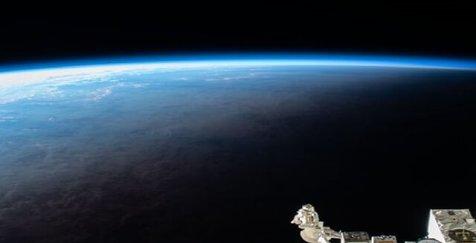 تصویری از زمین از ایستگاه فضایی بینالمللی