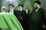 تجدید میثاق رئیس قوه قضائیه و مسئولان عالی قضایی با آرمانهای امام خمینی(س)