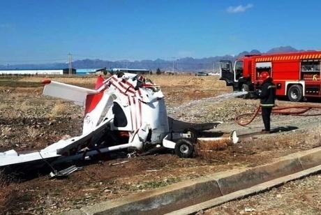 سقوط هواپیمای آموزشی در اراک