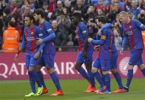 برد پر گل بارسلونا مقابل رم+فیلم