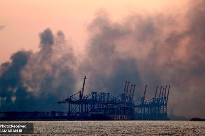 تصاویر تازه منتشر شده از لحظه انفجار بیروت از قایقی در نزدیکی بندر بیروت