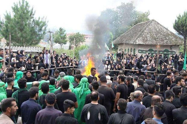 عزاداری سوگواران حسینی در بقاع متبرکه آستارا