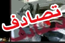 برخورد دو کامیون در آزادراه ساوه - تهران یک کشته برجای گذاشت