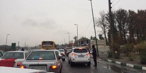 ترافیک در جاده هراز به چندین کیلومتر رسید