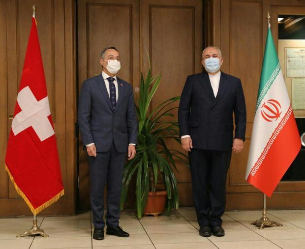 دیدار وزیر خارجه سوییس با ظریف