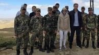 تصاویر جدید از بشار اسد و همسرش در حومه دمشق