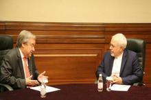 گفت و گوی تلفنی ظریف و دبیر کل سازمان ملل در مورد وضعیت افغانستان