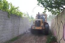 166 ساخت و ساز غیرمجاز در فیروزکوه تخریب شد