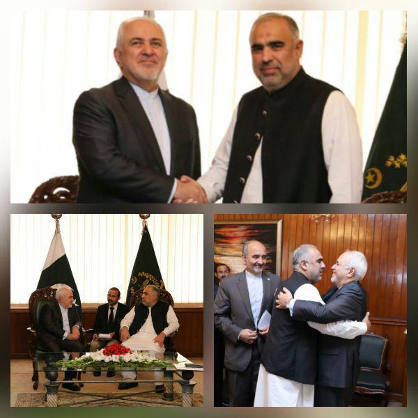 دیدار ظریف با رئیس مجلس ملی پاکستان
