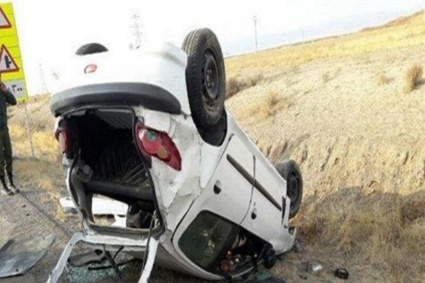 واژگونی پژو ۲۰۷ در قزوین حادثه آفرید