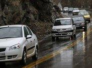 ترافیک روان و بارش باران در محورهای چهار استان
