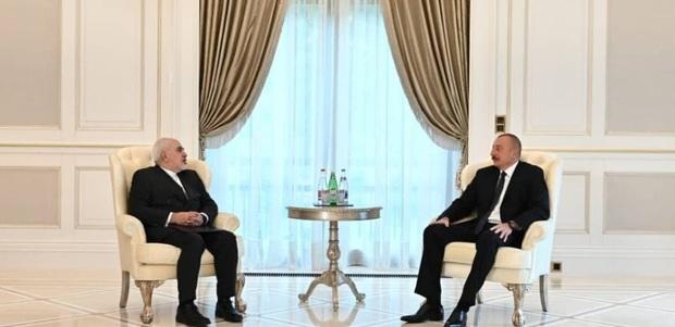 جزییات دیدار ظریف و رییس جمهوری آذربایجان