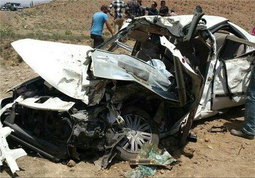 مرگ همسر و فرزند چهار ساله راننده به علت سرعت غیرمجاز