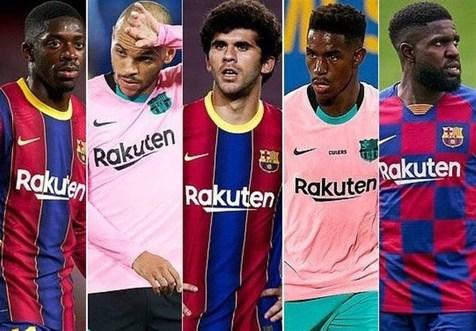 بارسلونا ۵ بازیکن خود را میفروشد