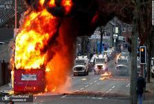 شورش مردم ایرلند ادامه دارد؛آیا کار کار انگلیسی هاست؟