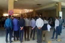 اعتصاب کارکنان بیمارستان پتروشیمی در شهر چمران ماهشهر اعتراض به واگذاری بیمارستان به بخش خصوصی