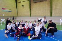 دختران والیبالیست آذربایجانغربی نایبقهرمان ایران شدند