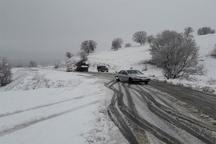 بارش برف به کندی تردد در مناطق کوهستانی سردشت منجر شد