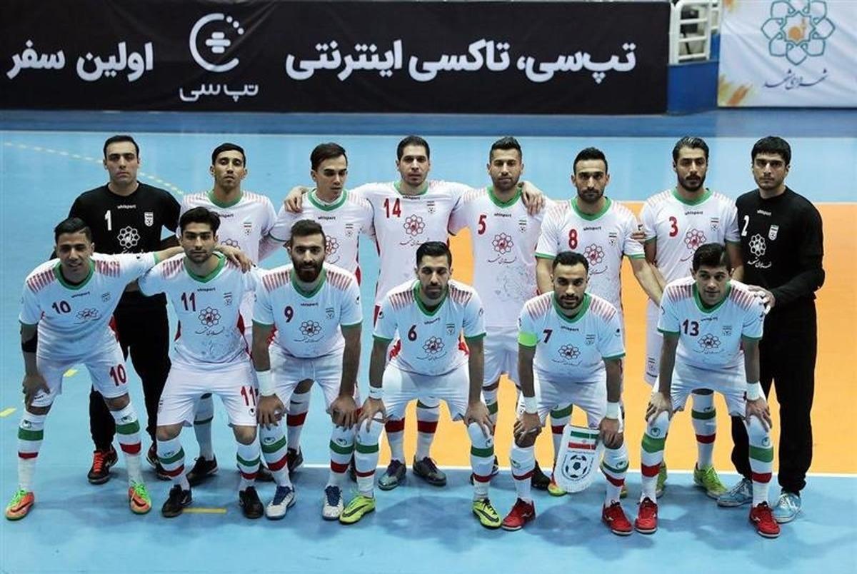 زمان دیدارهای ایران در جام جهانی فوتسال 2021 مشخص شد